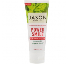 Mã SP: 23401A - Kem đánh răng tẩy trắng răng Jason Natural, Power Smile, Whitening Paste, Powerful Peppermint, 3 oz (85 g)